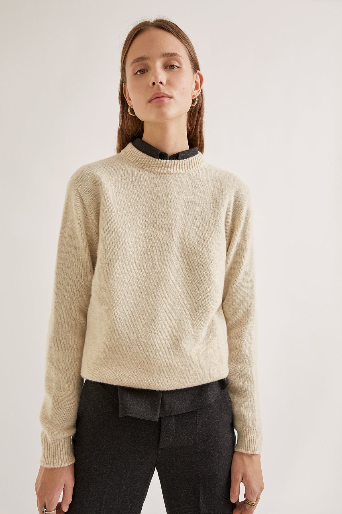 The Upcycled Cashmere Sweater - Cream
