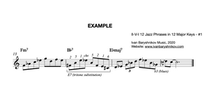 II-V-I 12 Jazz Phrases in 12 Major Keys - #1