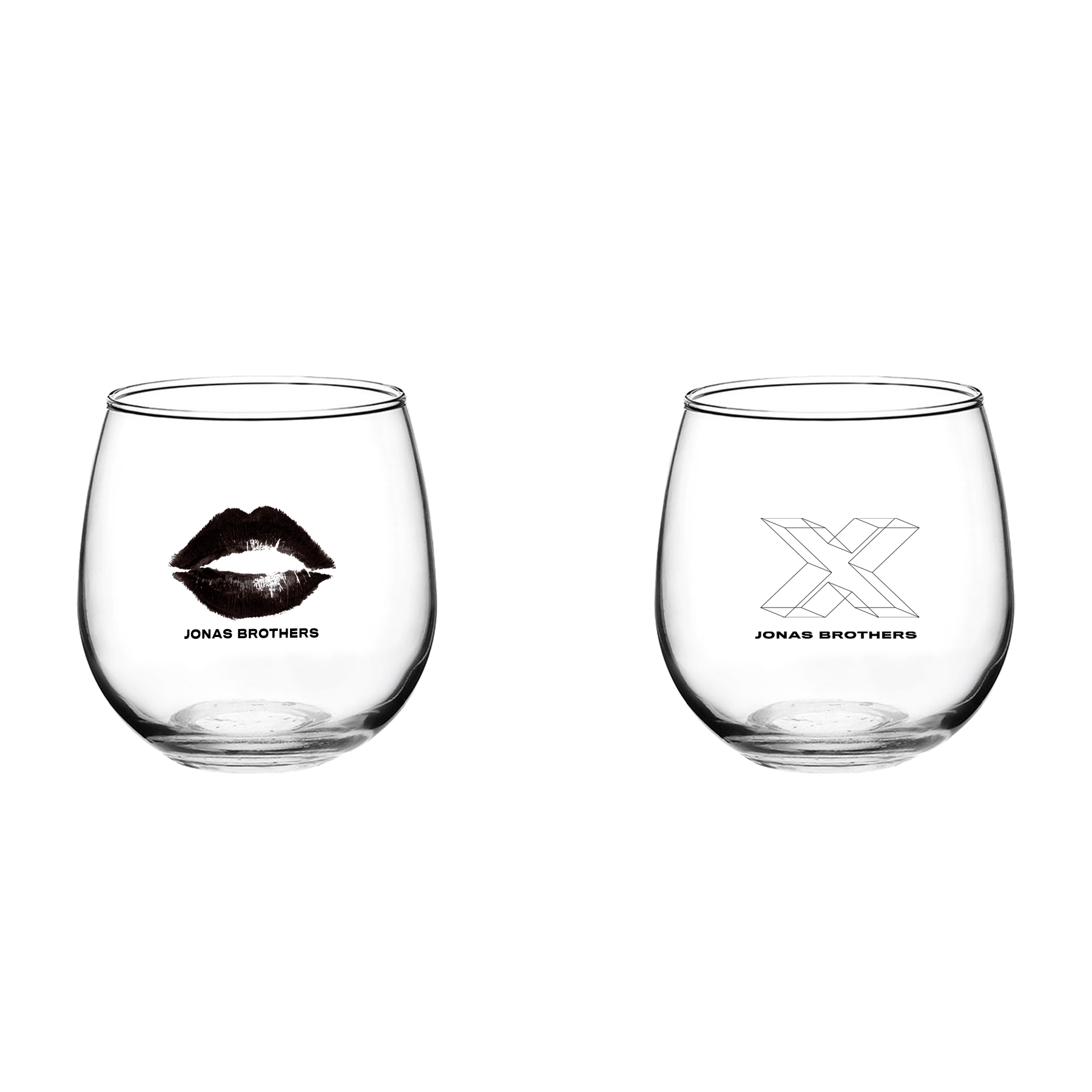 X STEMLESS WINE GLASSES