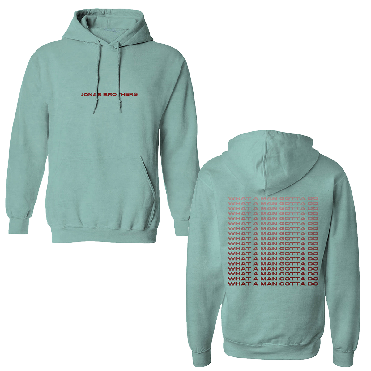 WHAT A MAN GOTTA DO SEAFOAM PULLOVER HOODIE + DIGITAL ALBUM DOWNLOAD