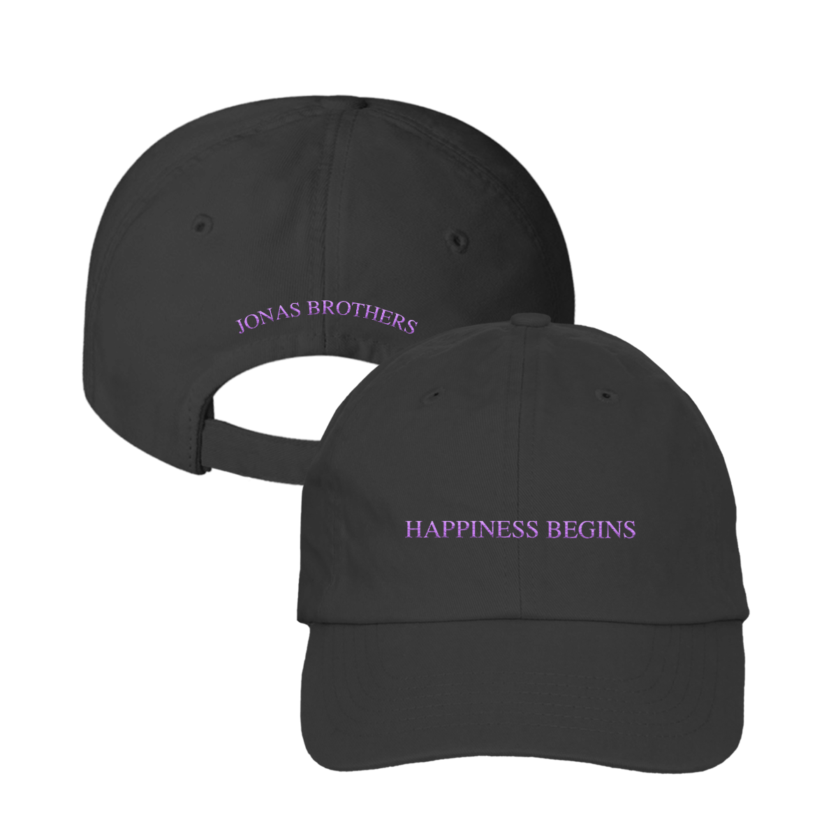 HAPPINESS HAT - BLACK AND PURPLE