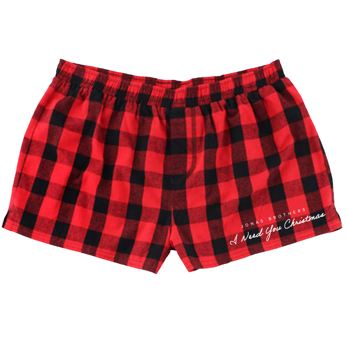 I NEED YOU CHRISTMAS PAJAMA SHORTS-Jonas Brothers