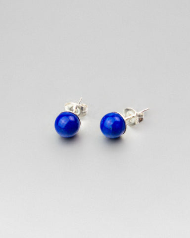 Blue Lapis Earring Studs 6mm