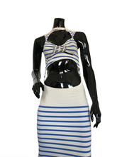 Load image into Gallery viewer, Jean Paul Gaultier Maille SS 2001 Cut-out Striped Dress