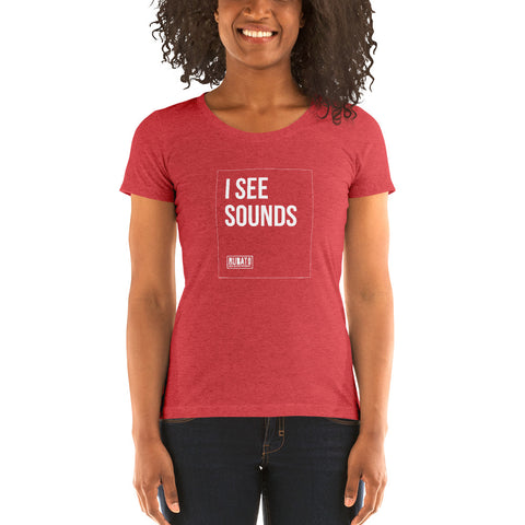 I See Sounds Ladies' short sleeve t-shirt
