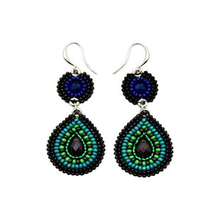 Soan Tear Drop Hand bead Earrings-Bali
