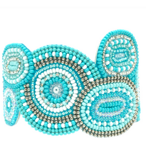 Soan Ovals And Circles Pattern Bracelet-Ocean