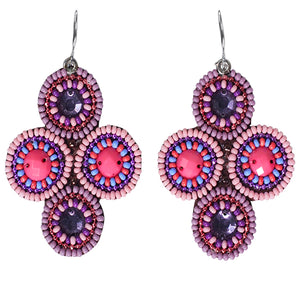 Seed Bead 4 Circles Earrings-Goa