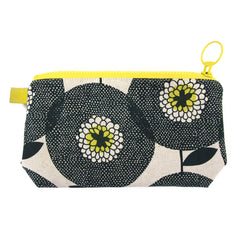 Stash Bag Flower Fields Penny Black With Lemon Lining
