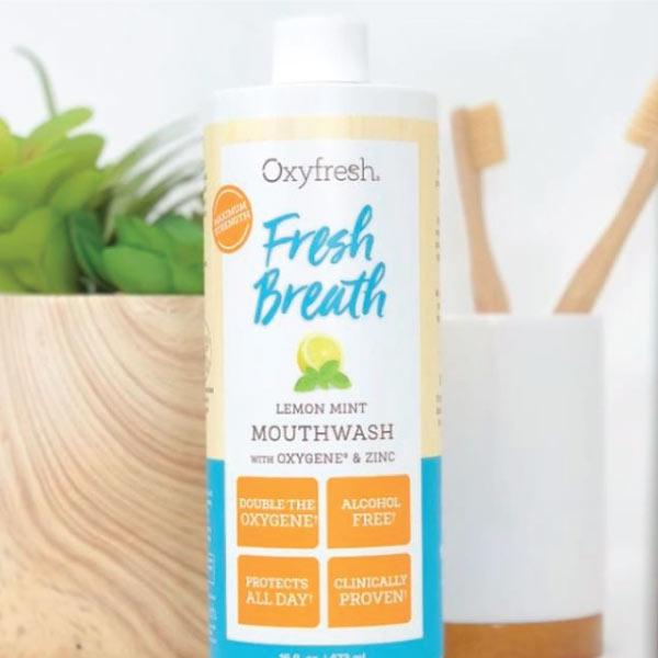 Fresh Breath Lemon Mint Mouthwash