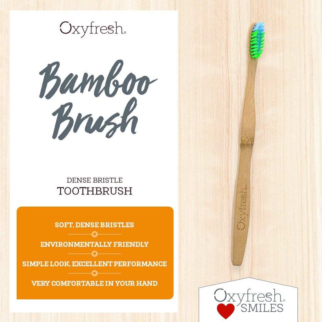 Environmentally friendly BPA free Toothbrush Made from Sustainably Sourced Bamboo