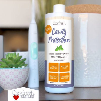 Oxyfresh - Alcohol-free Cavity Protection Fluoride Mouthwash fight cavities, protects teeth and delivers all-day fresh breath