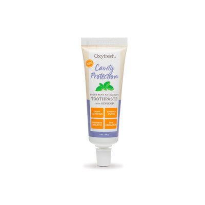 Oxyfresh Cavity Prevention toothpaste with fluoride and mint essential oils for all day fresh breath