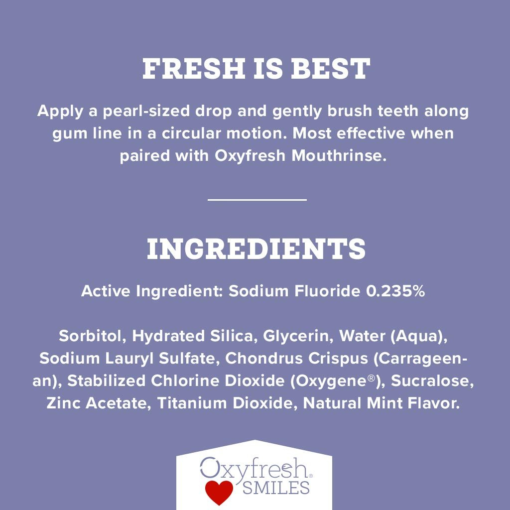 Oxyfresh fluoride toothpaste is loved by thousands of customers and dentists