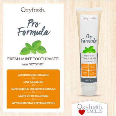 Low abrasion toothpaste for gentle whitening and long lasting fresh breath
