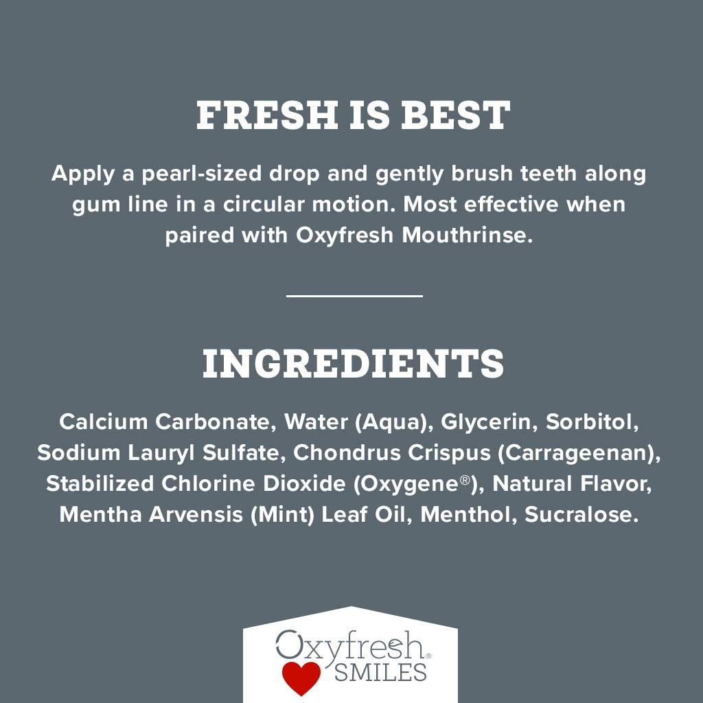 Oxyfresh - Pro Formula Toothpaste is loved by thousands of customers and dentists.