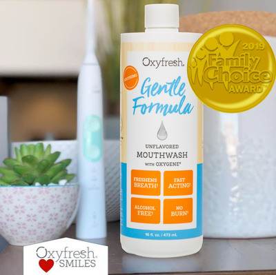 Fresh breath fast, that lasts, with Oxyfresh's gentle mouthwashes