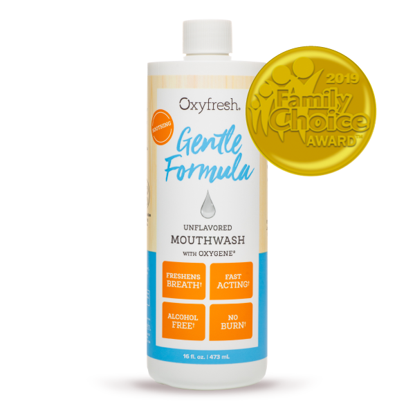 Oxyfresh mouthwash is alcohol free to prevent dry mouth and keeps breath fresh longer