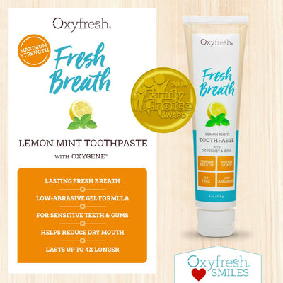 Family Choice Award winning Lemon Mint Toothpaste is the original power paste