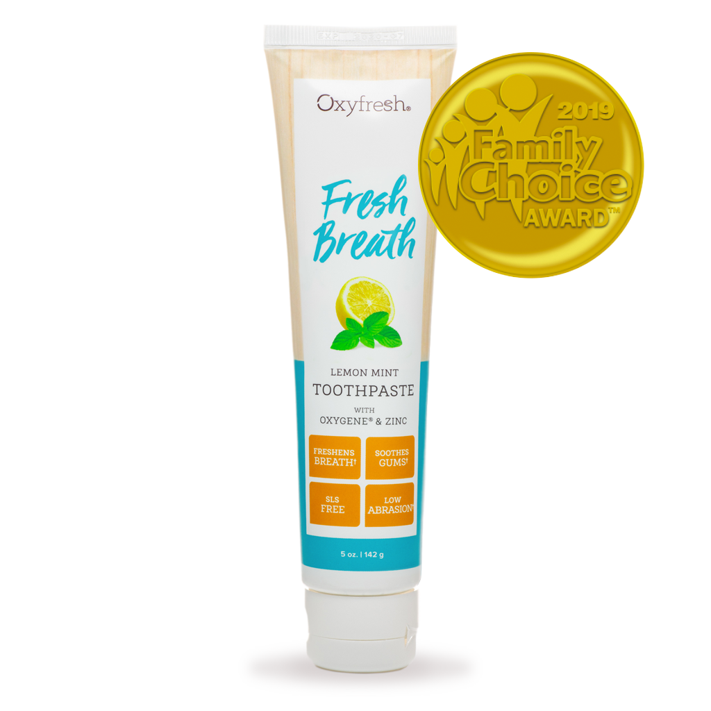 Oxyfresh Lemon Mint Toothpaste get rid of bad breath with lemon essential oil