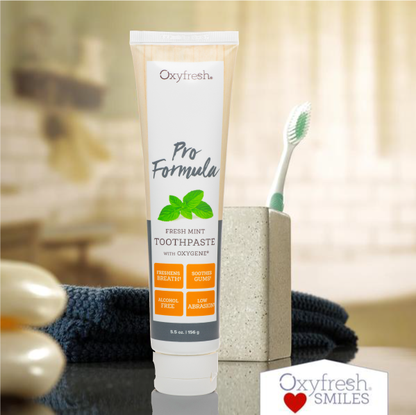 Oxyfresh zinc toothpaste for healthy gums is patented to protect your smile