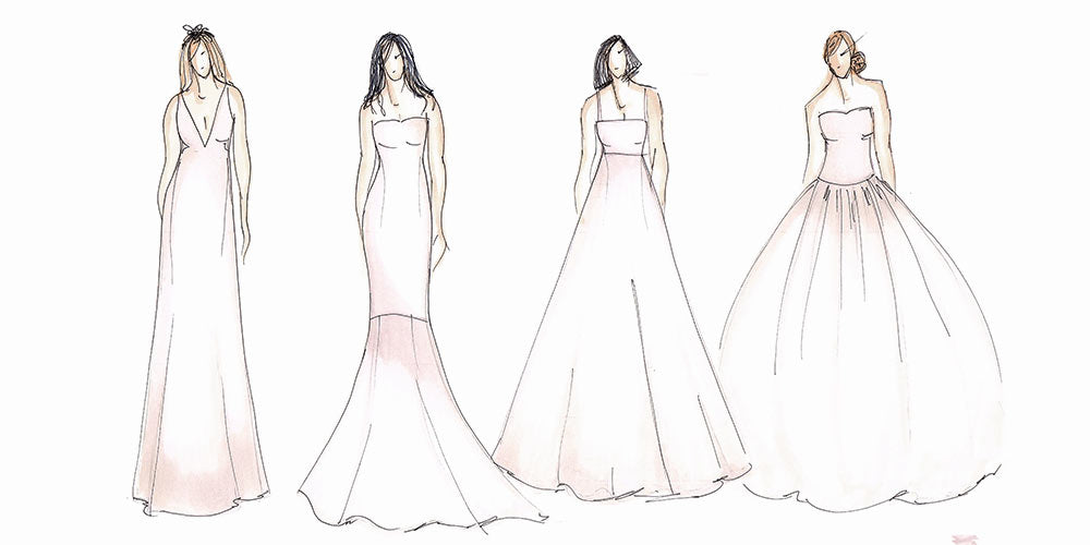 Silhouettes for dress styles