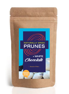 Naturally Dried Prunes + White Chocolate
