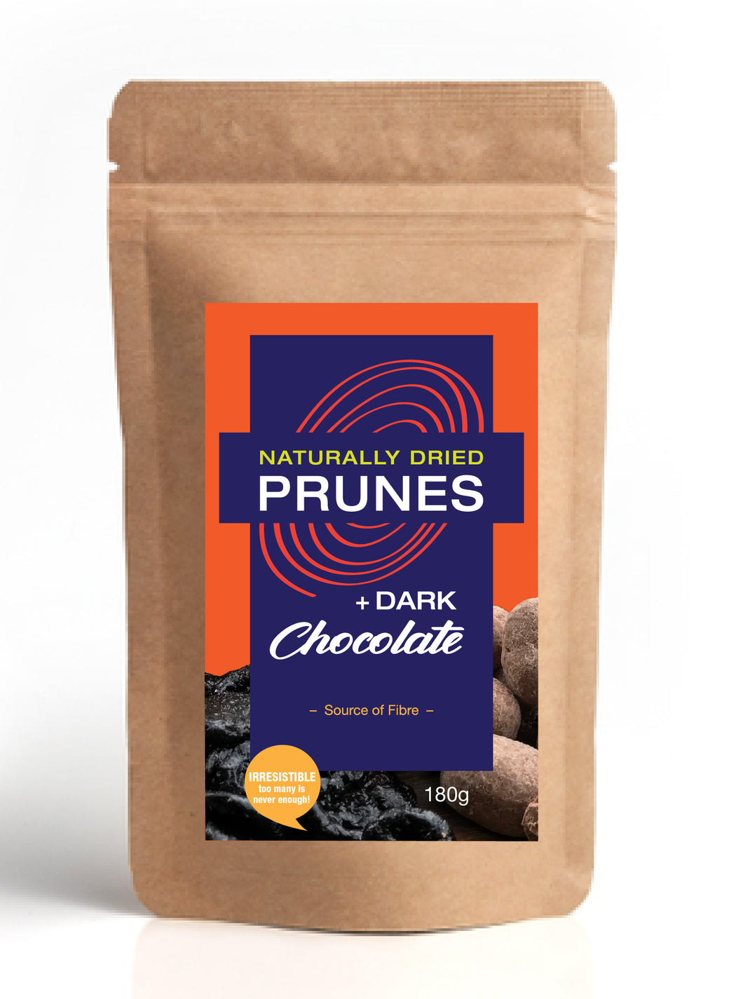 Naturally Dried Prunes + Dark Chocolate