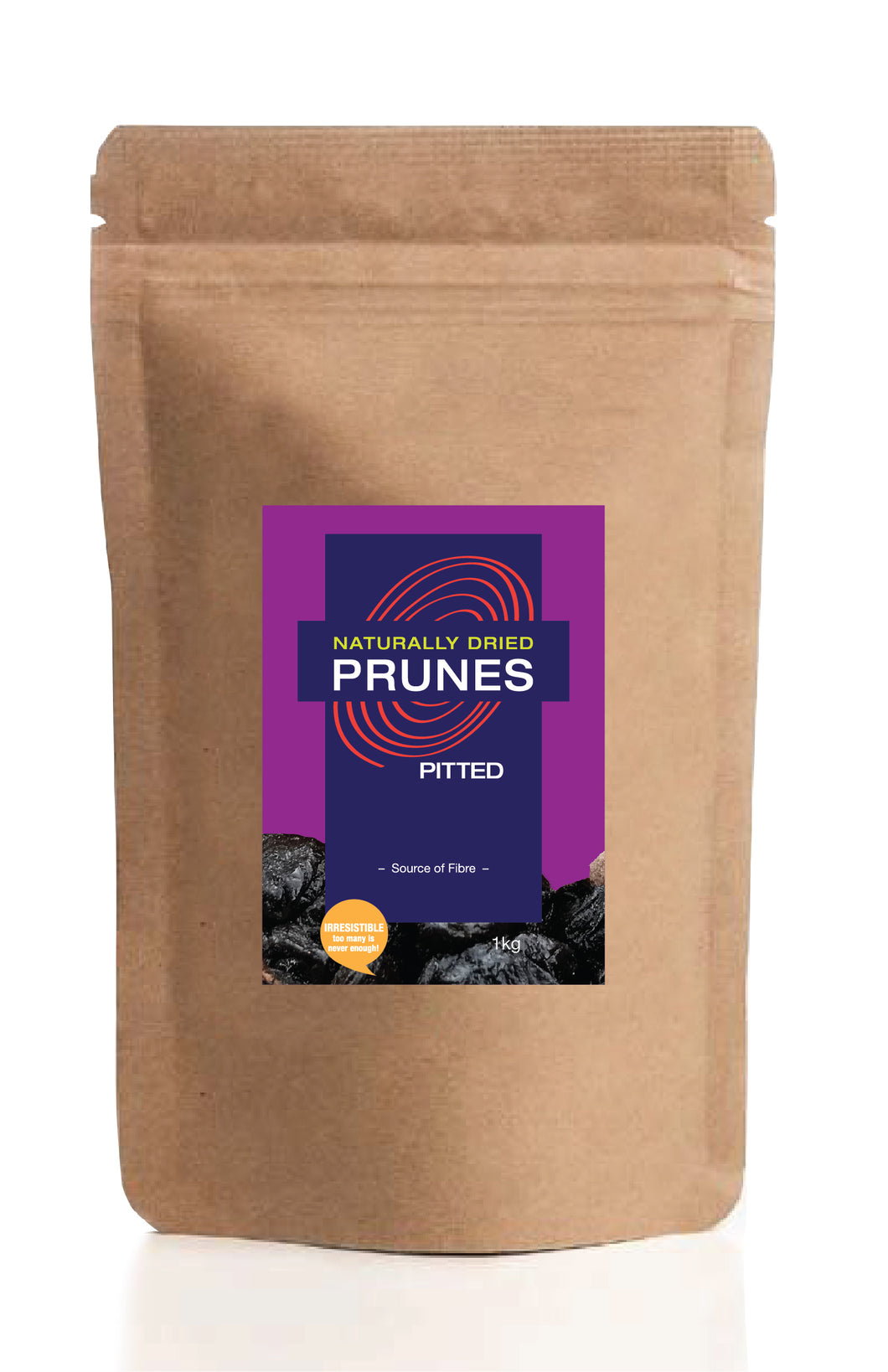 Naturally Dried Prunes - Pitted 1kg