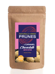 Naturally Dried Prunes + Caramel Chocolate LIMITED STOCK