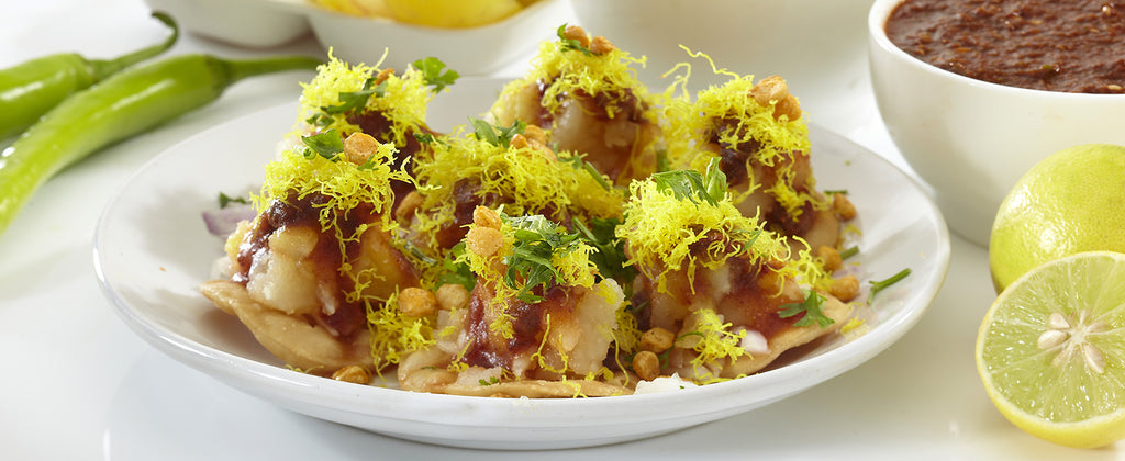 Summer Sprout Papdi Chaat