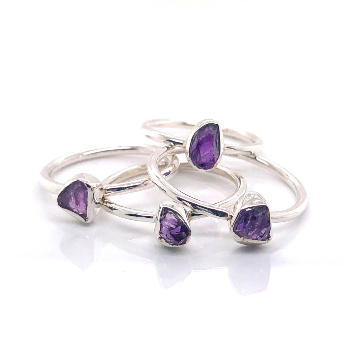 Amethyst Stackable Gemstone Ring