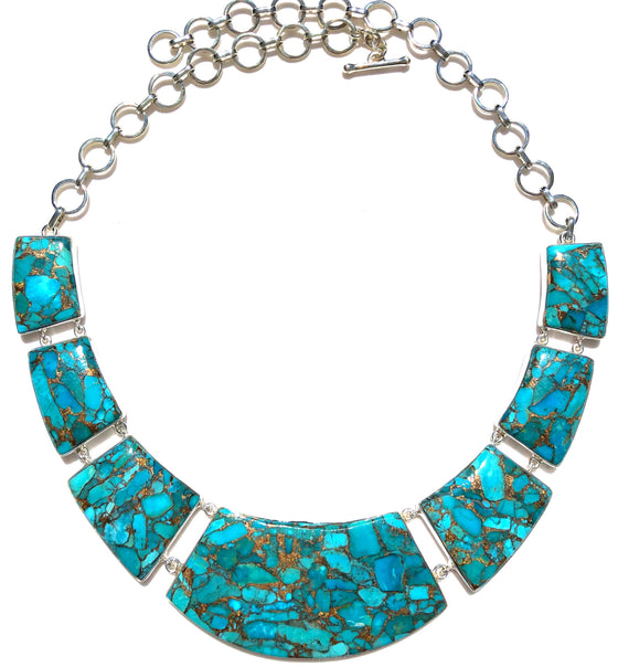 Mojave Blue Copper Turquoise Necklace