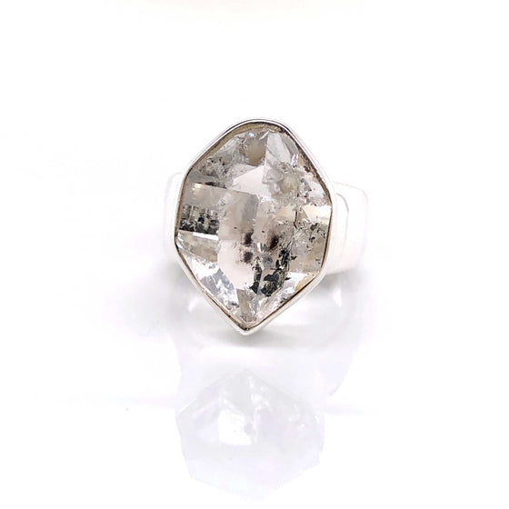 Herkimer Diamond Quartz Gemstone Ring