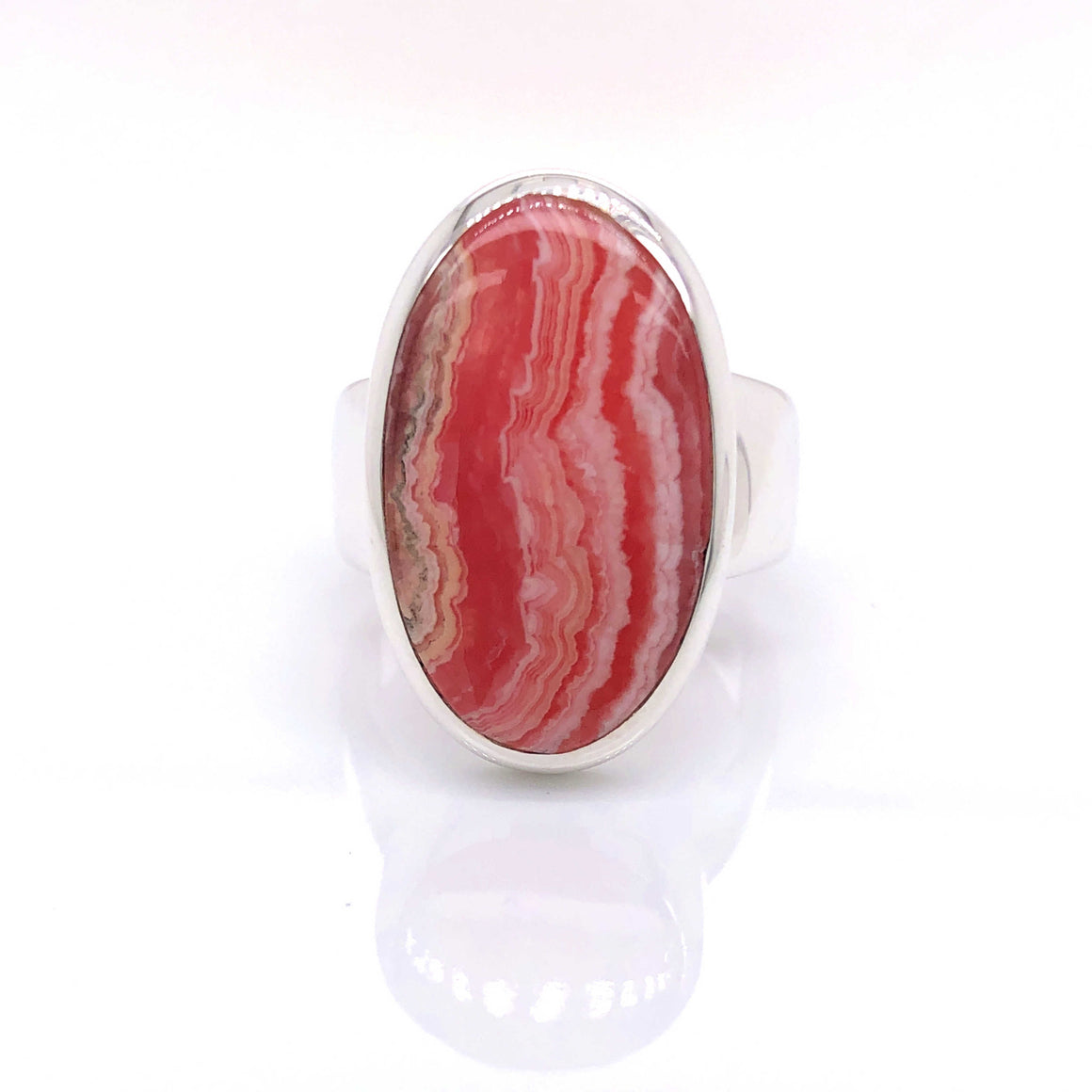Rhodochrosite Gemstone Ring