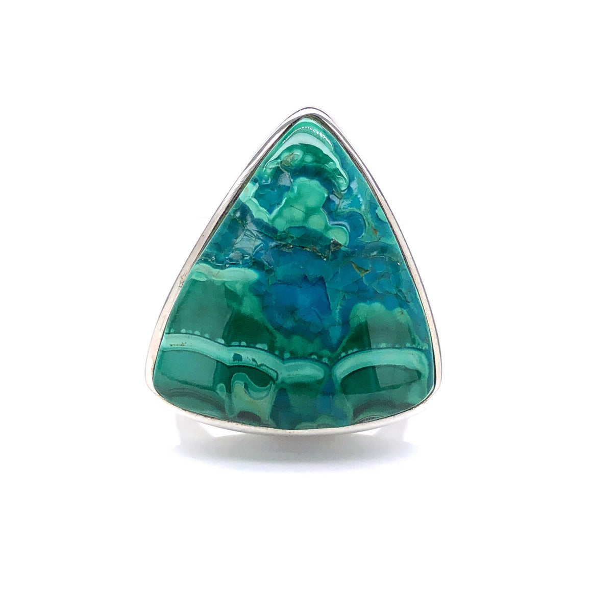 Chrysocolla and Malachite Gemstone Ring