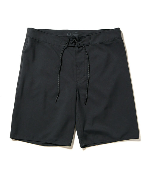 Shop Outerknown Nomadic 19 in. Board Shorts - Bright Black | Benny's Boardroom