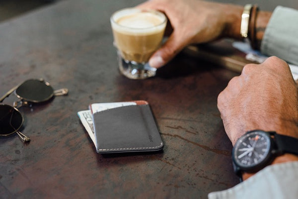 Shop Bellroy Micro Sleeve Wallet - Charcoal | Benny's Boardroom