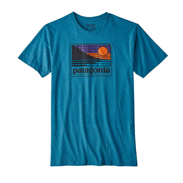 Buy Patagonia Up & Out Tee Shirt - Filter Blue | Benny's Boardroom