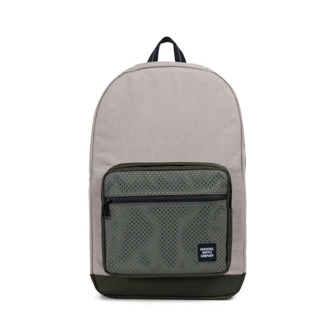 Shop Herschel Aspect Pop Quiz Backpack -  Light Khaki Crosshatch/Forest Night | Benny's Boardroom