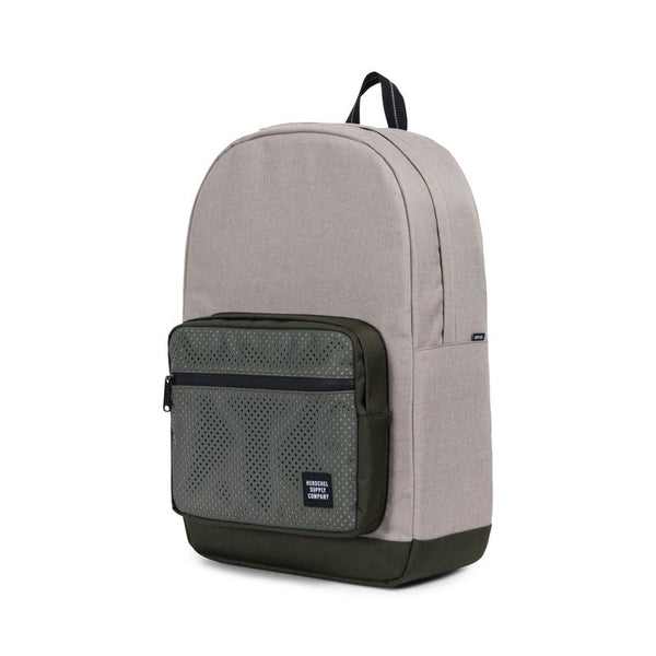 Herschel Aspect Pop Quiz Backpack - Light Khaki Crosshatch/Forest Night Online | Benny's Boardroom