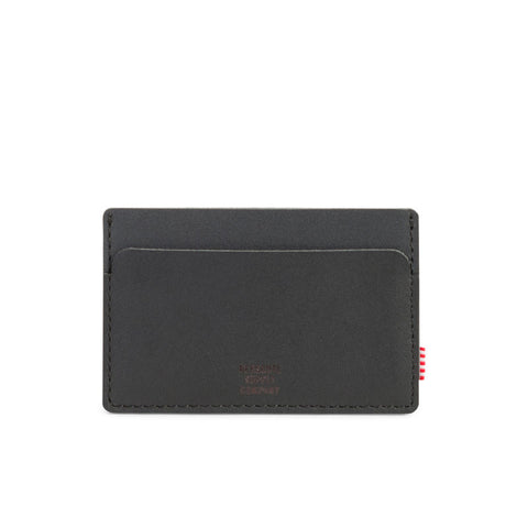 Shop Herschel Felix Wallet -  Black Leather/Black | Benny's Boardroom