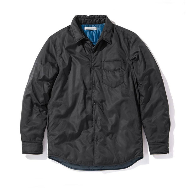 Shop Outerknown Evolution Shirt Jacket -  Bright Black | Benny's Boardroom