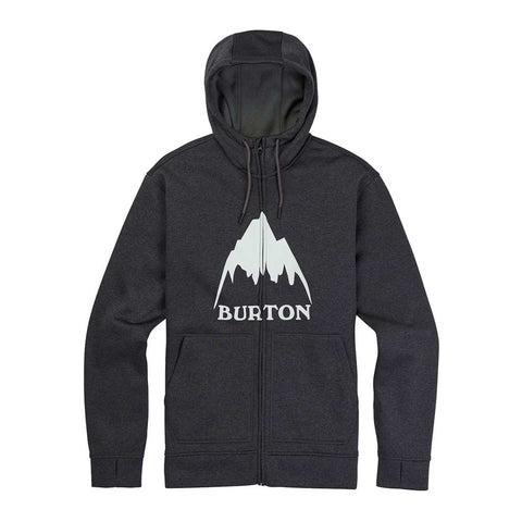Shop Burton Men's Oak Full Zip Hoody - True Black Heather | Benny's Boardroom
