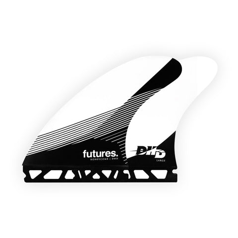 Shop Futures Fins DHD (L) Thruster Fins Online - White/Black | Benny's Boardroom