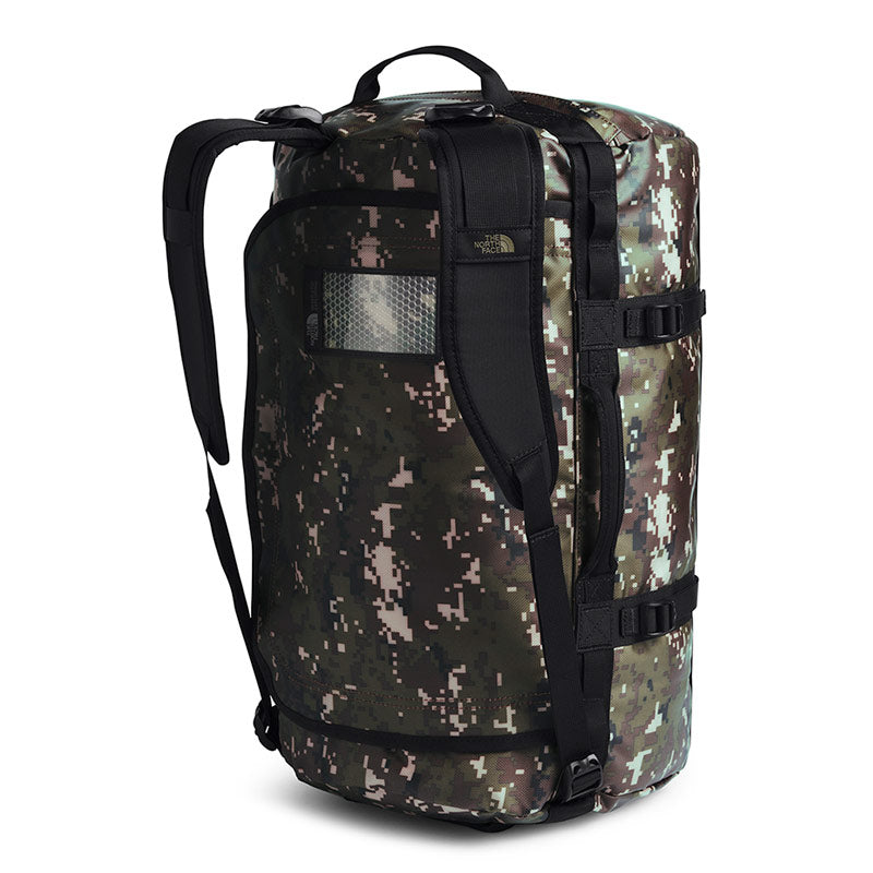 Buy The North Face Base Camp Duffel Bag 50L (S) - Burnt Olive Green Digi Camo/TNF Black Shoulder Straps | Benny's Boardroom