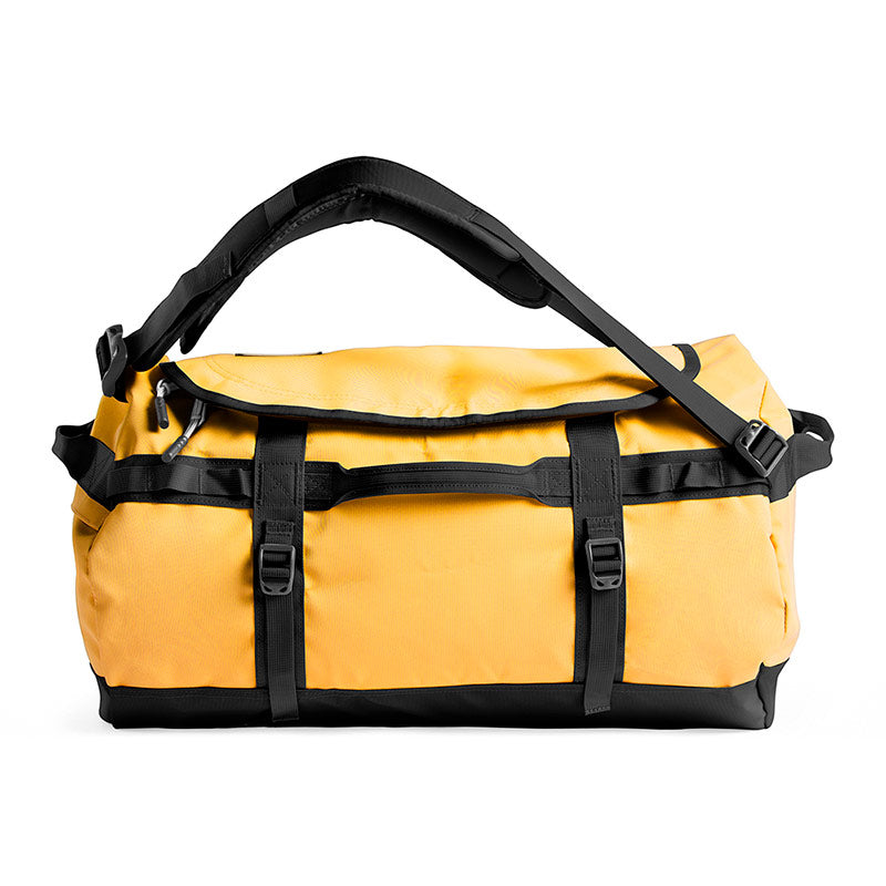 Buy The North Face Base Camp Duffel Bag 50L (S) - Summit Gold/TNF Black Side Profile | Benny's Boardroom