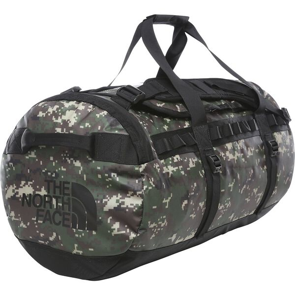 Shop The North Face Base Camp Duffel Bag 71L (M) - Burnt Olive Green Digi Camo/TNF Black Online Australia | Benny's Boardroom