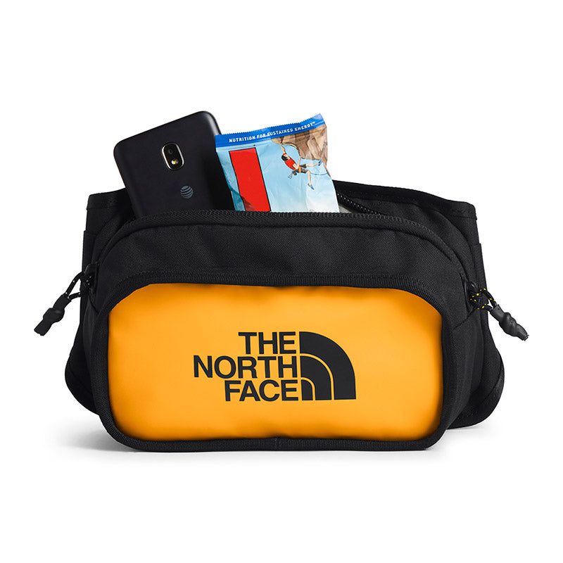 Buy The North Face Explore Hip Pack - TNF Yellow Open Main Compartment | Benny's Boardroom