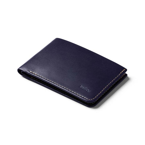 Buy Bellroy The Low Leather Wallet Online - Navy | Benny's Boardroom